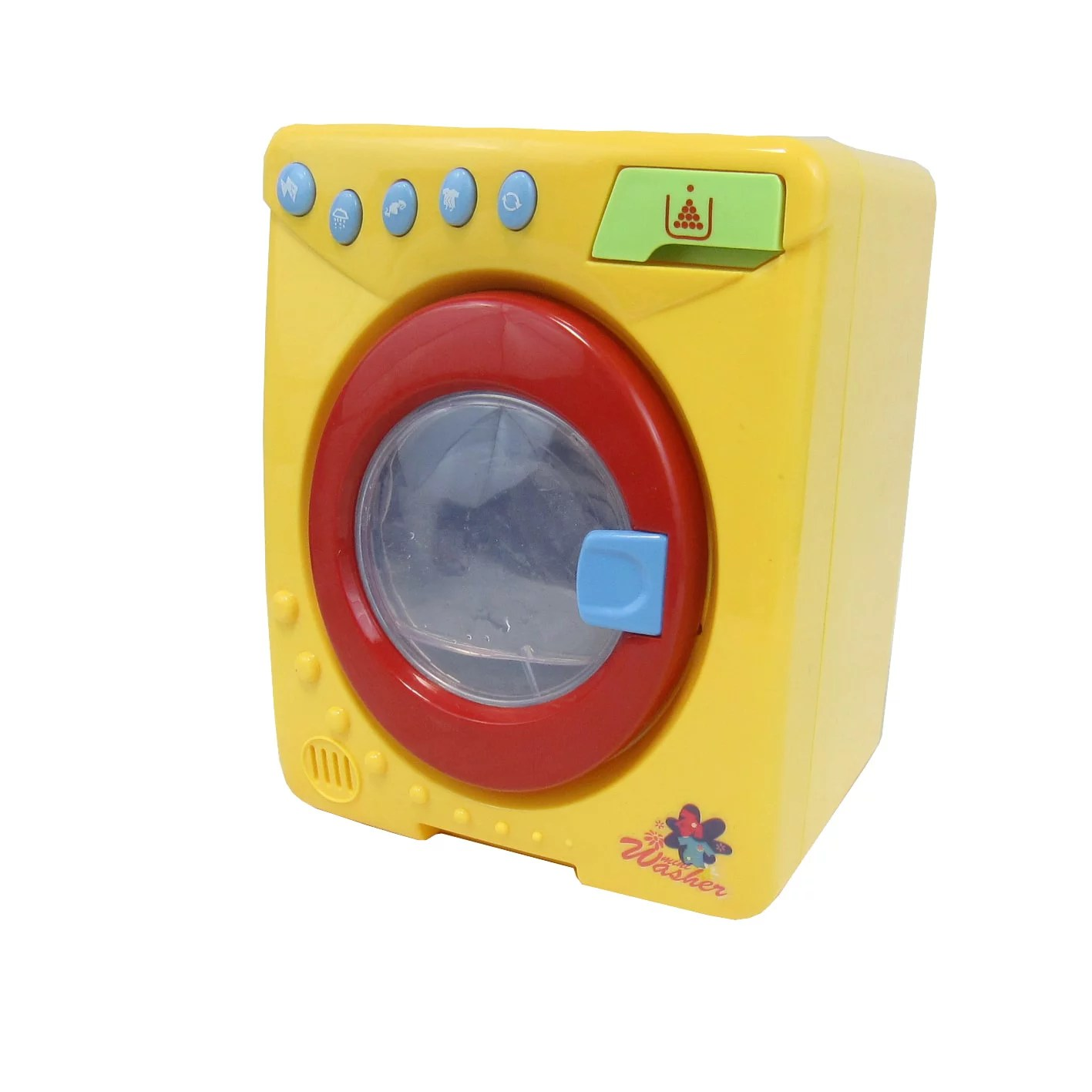 Glopo Inc Light Upanimated Washing Machine Toy Yellow