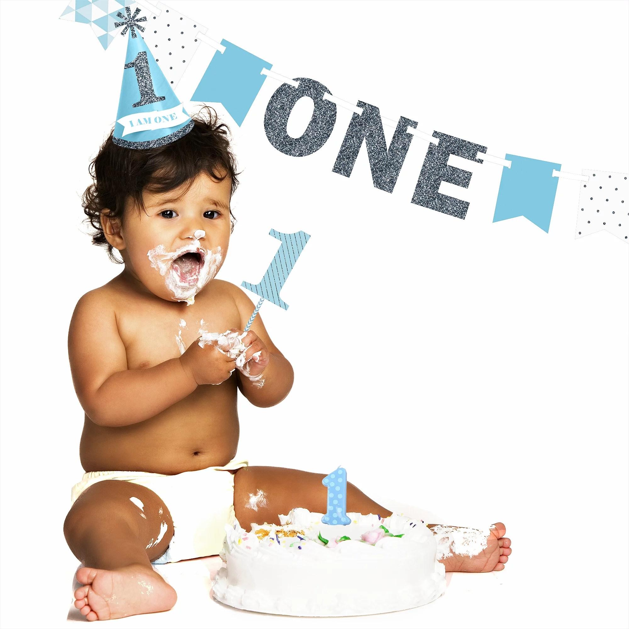 1st birthday boy smash