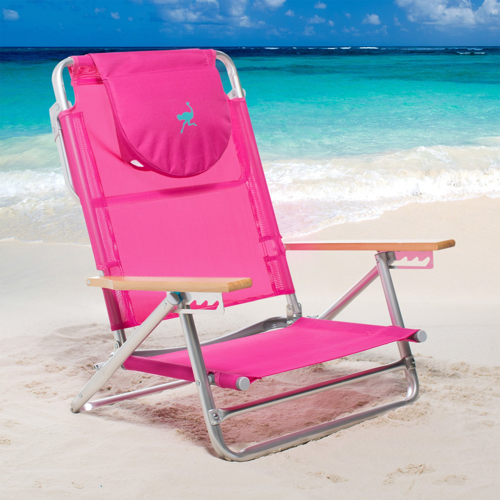 pink beach chair parsons chairs set of 2 walmart com product image ostrich south 5 position sand