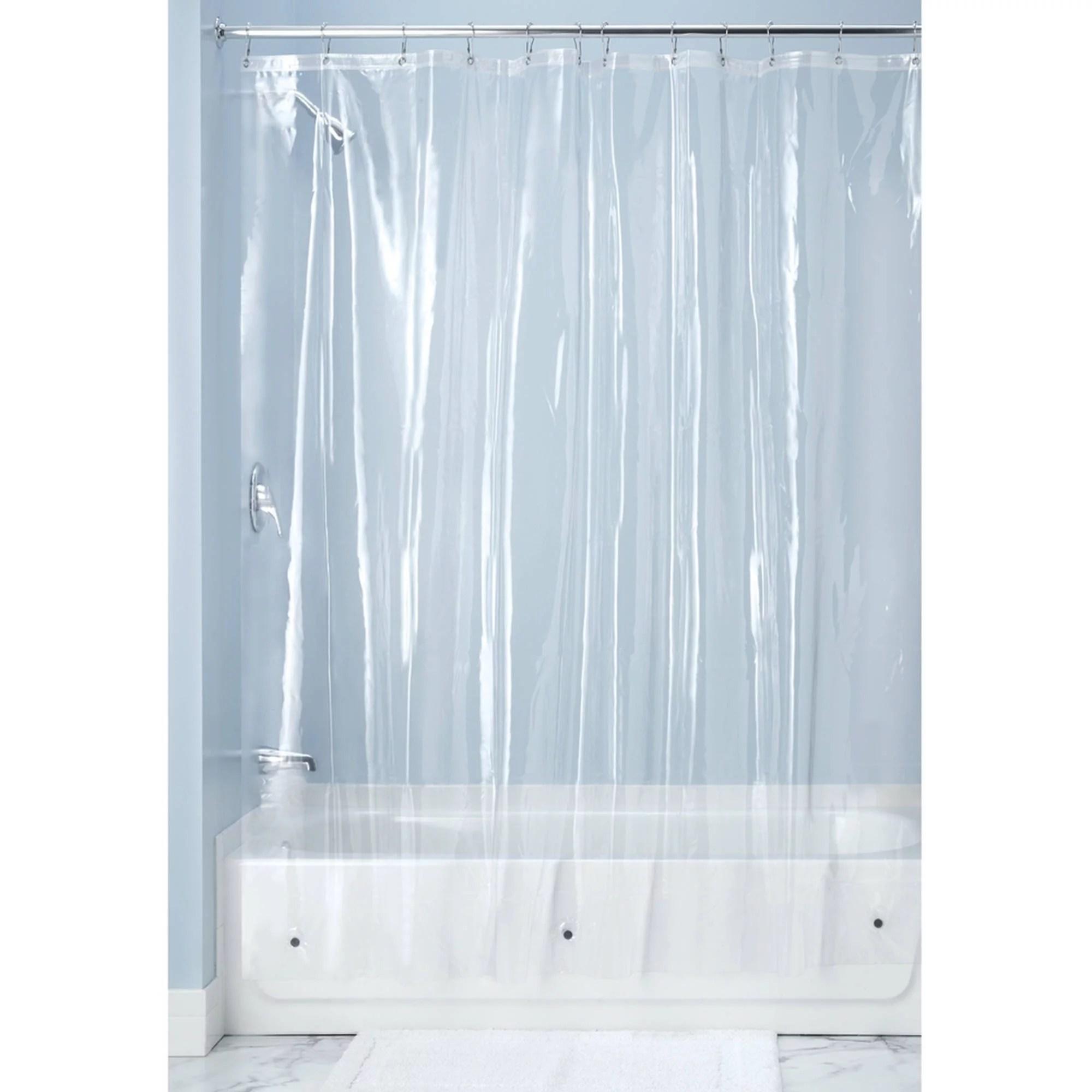 interdesign 10 gauge clear vinyl shower curtain liner 72 x 72 walmart com
