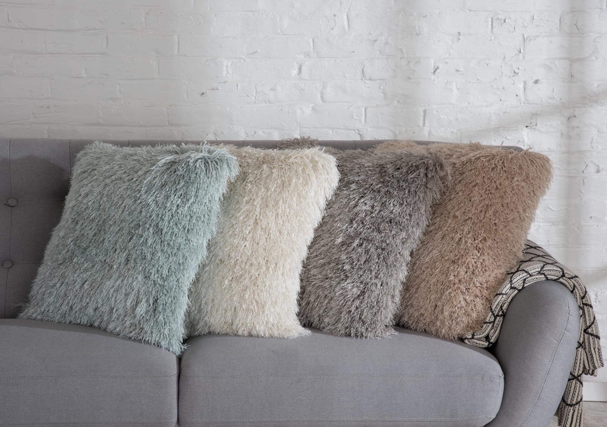 20x20 sparkle shag pillow multiple colors