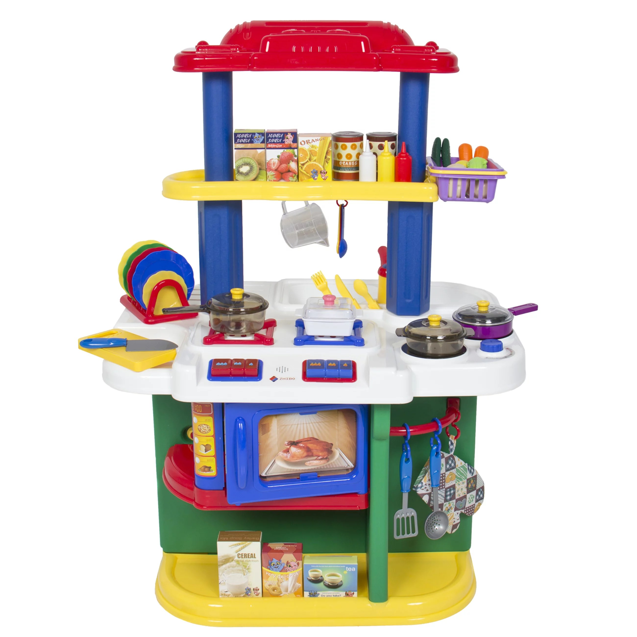 toy kitchen sets custom wood hoods deluxe children cooking pretend play set with accessories walmart com
