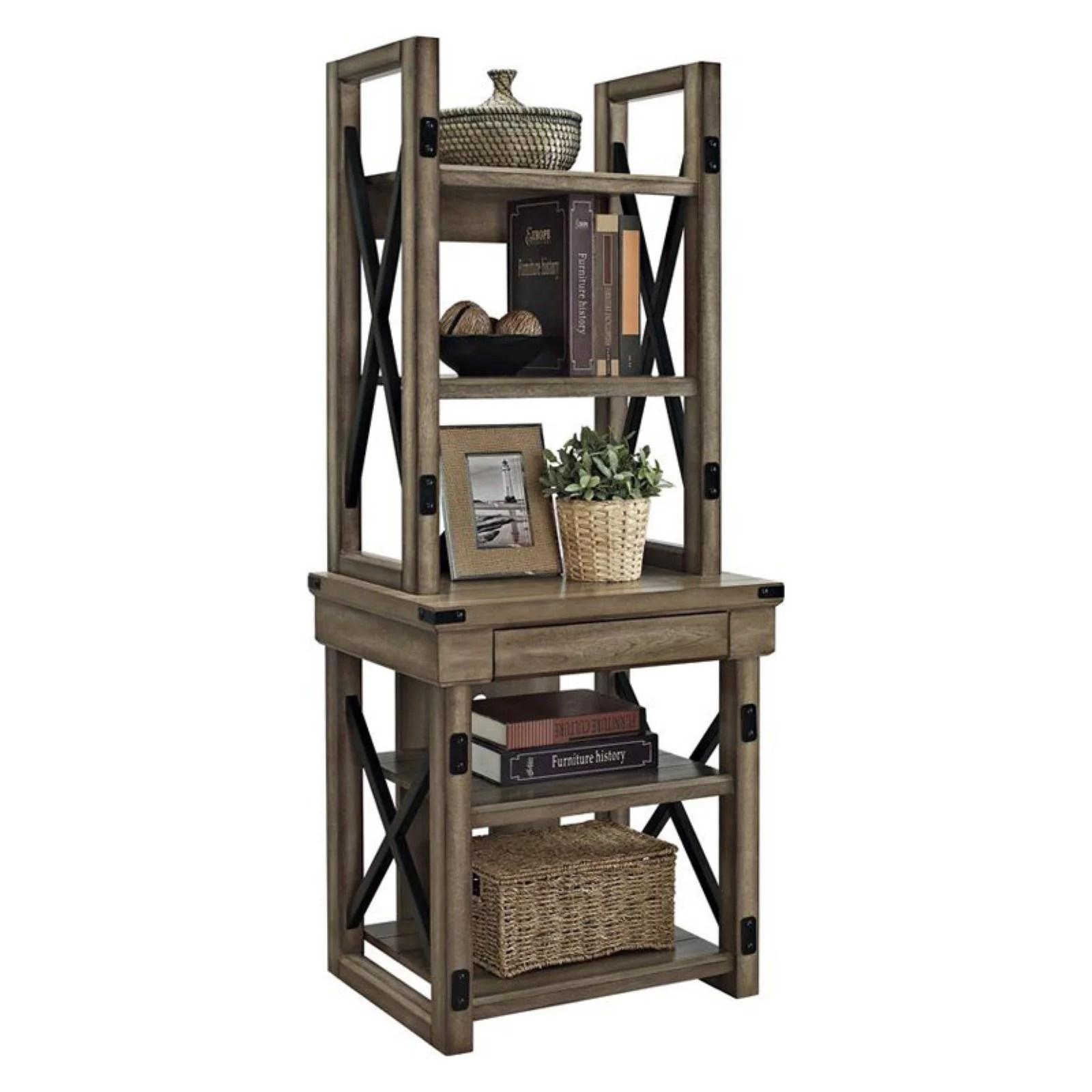 Stratford Rustic 5 Shelf Bookcase Instructions