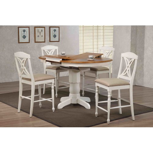 rubberwood butterfly table with 4 chairs rocking chair gliders iconic furniture back upholstered counter height 5 piece pub set walmart com
