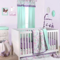 The Peanut Shell 4 Piece Baby Girl Crib Bedding Set