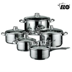 Kitchen Pots Remodel Pictures Elo Skyline Stainless Steel Induction Cookware And Pans Set With Air Ventilated Lids 10 Piece Walmart Com