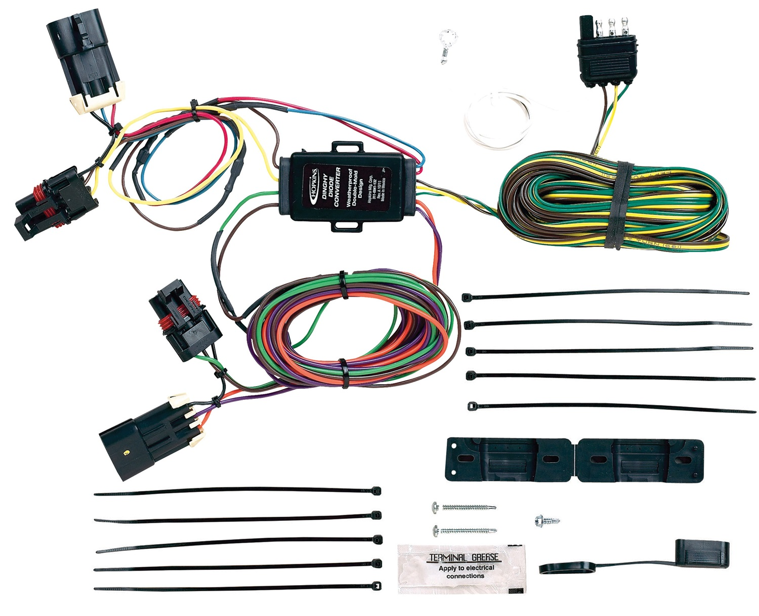 hight resolution of hopkins towing solution 56100 plug in simple vehicle to trailer wiring harness walmart com