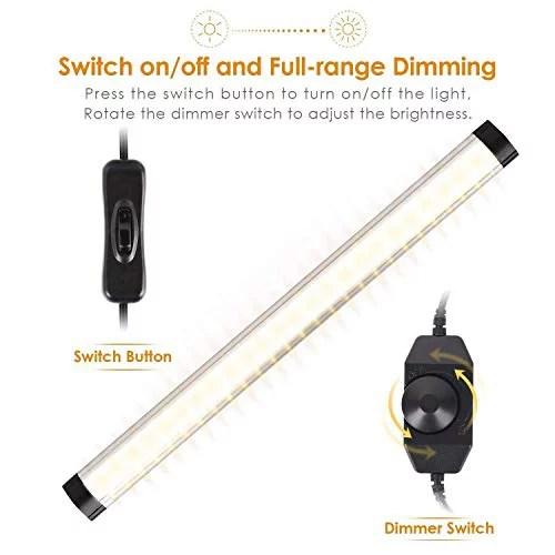 albrillo led under cabinet lighting dimmable under counter lighting 12w 900 lumens warm white 3000k kitchen cabinet strip lights pack of 3