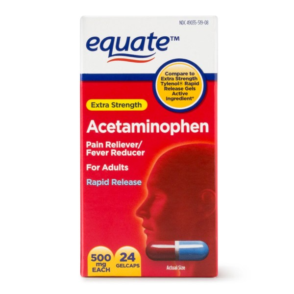 Equate Extra Strength Acetaminophen Rapid Release Gelcaps 500 Mg 24 Ct