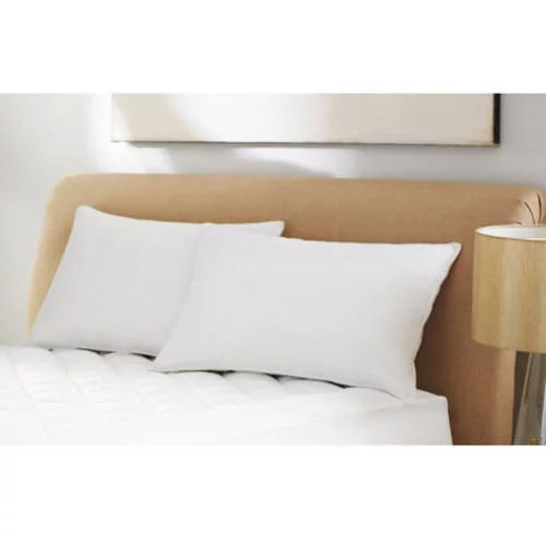 mainstays 100 microfiber pillow twin pack in 20 x 26