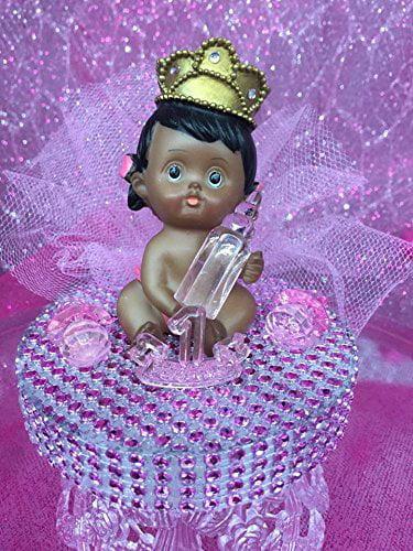 Ethnic Baby Girl Princess 1st Birthday Cake Topper Centerpiece