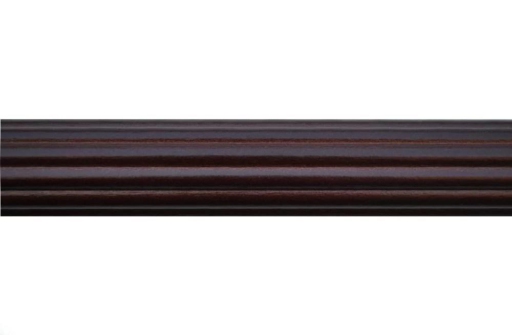 1 3 8 inch wood fluted drapery rod in mahogany finish 8 long walmart com