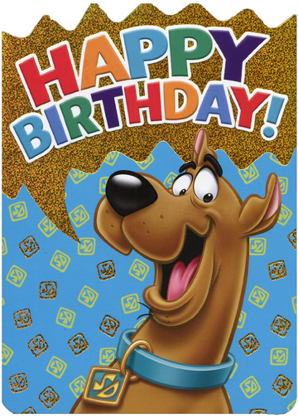 paper house productions scooby doo die cut foil birthday card for kids
