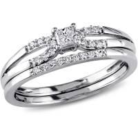Miabella 1/5 Carat T.W. Diamond Sterling Silver Halo ...