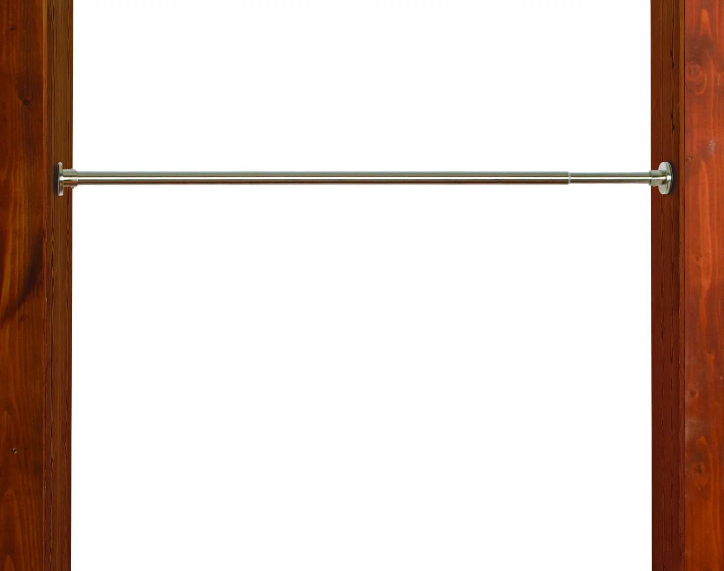 versailles green room 3 4in stainless steel duo tension rod indoor outdoor 18in 28in