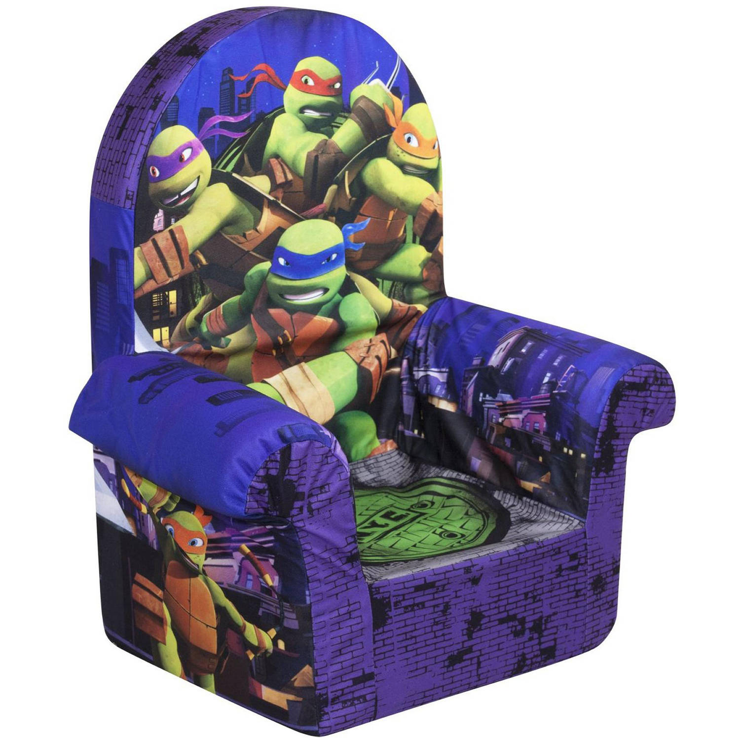 Marshmallow High Back Chair, Teenage Mutant Ninja Turtles