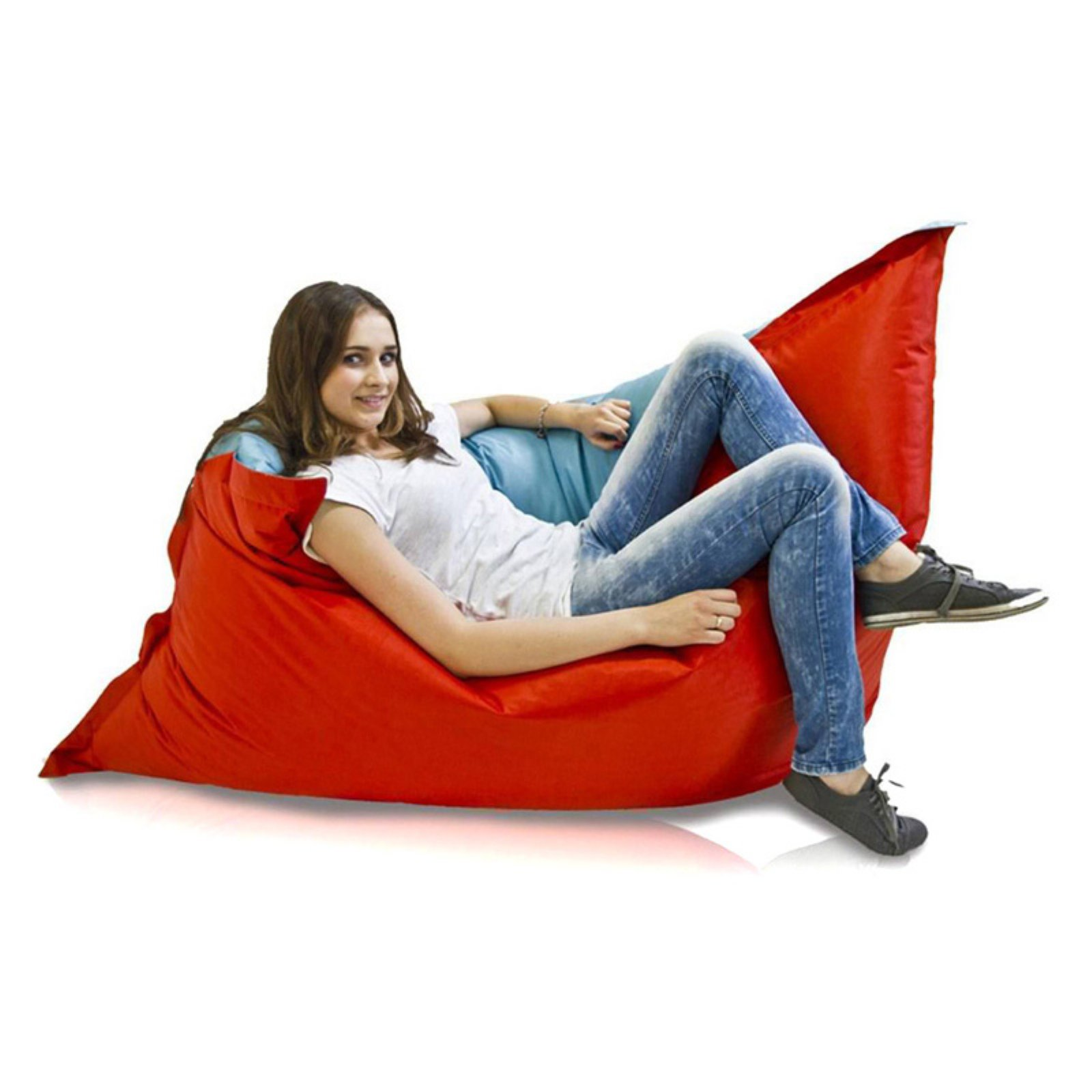 Giant Pillow Chair Turbo Beanbags Pillow Style Large Bean Bag Chair