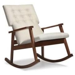 Cheap Modern Rocking Chair 2 X 4 Adirondack Plans Baxton Studio Agatha Mid Century Light Beige Fabric Upholstered Button Tufted Walmart Com