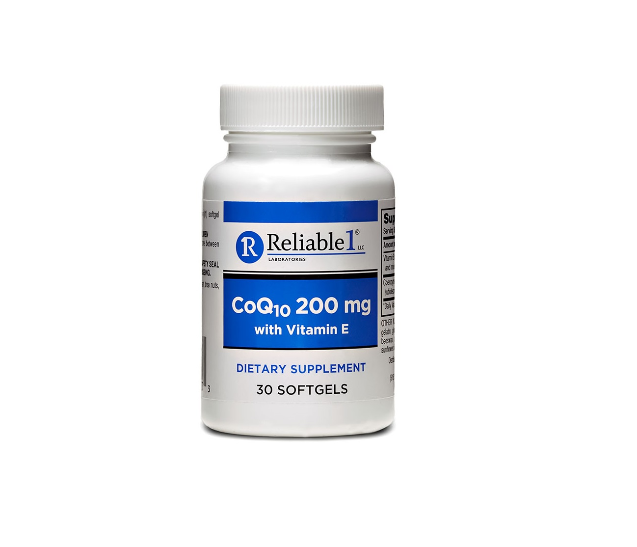 High Absorption CoQ10 200 mg with Vitamin E 30 Softgels ...