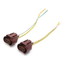 2 pcs 9006 hb4 extension wiring harness socket wire for headlight fog light [ 1100 x 1100 Pixel ]