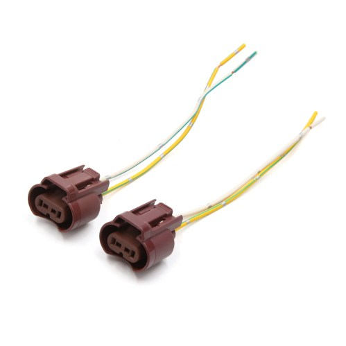 small resolution of 2 pcs 9006 hb4 extension wiring harness socket wire for headlight fog light