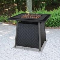 UniFlame LP Gas Slate Finish Fire Pit Table - Walmart.com