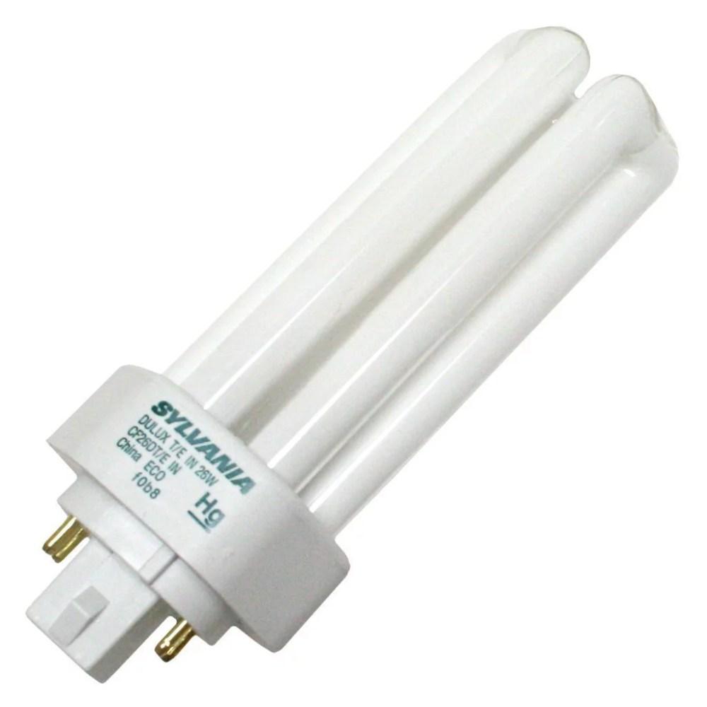 medium resolution of sylvania 20881 cf26dt e in 835 eco 26 watt cfl light bulb 4 pin gx24q 3 base 3500k walmart com