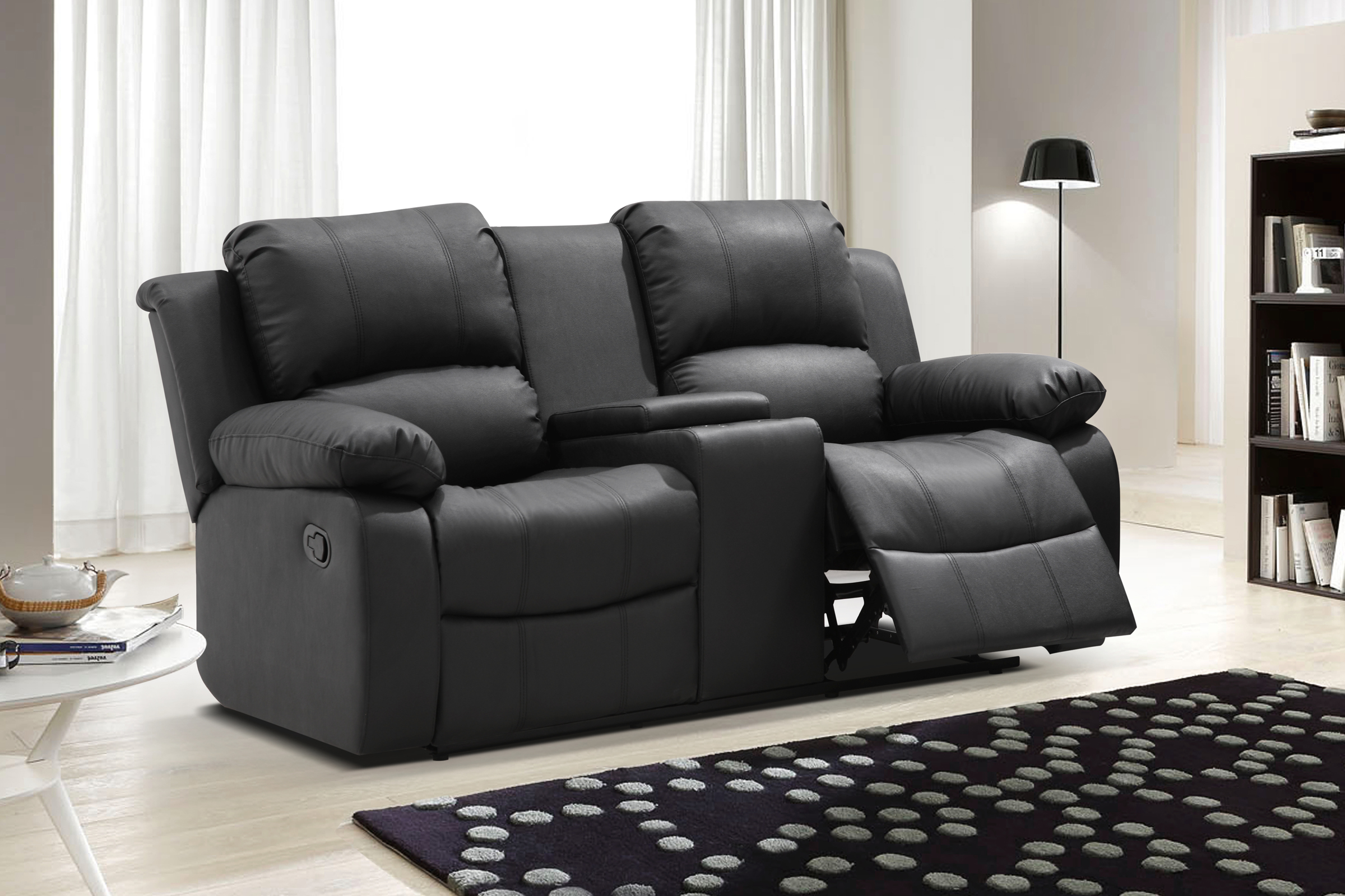 tribecca home eland black bonded leather sofa set repair kajang recliner love seat paramount reclining