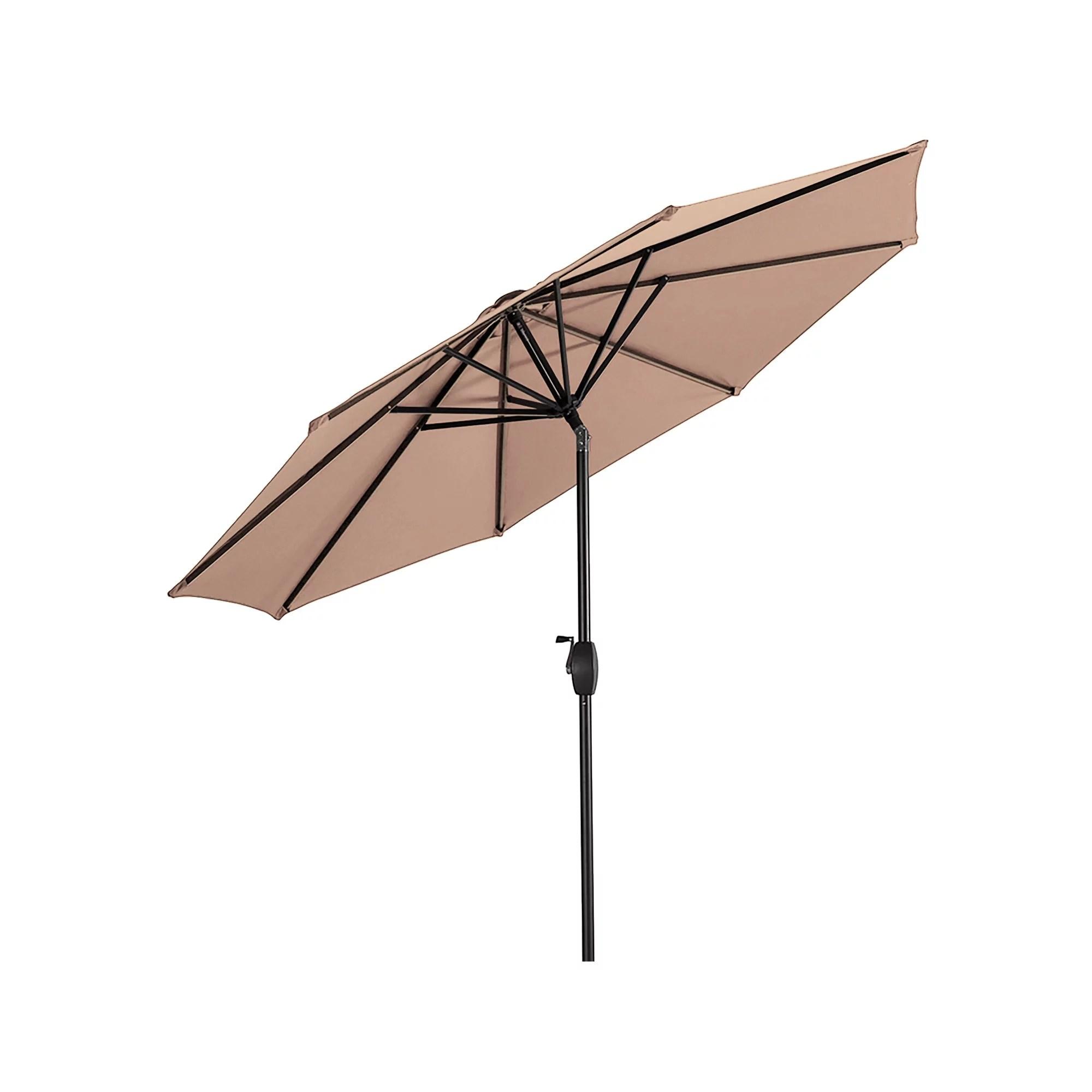 westin outdoor 9 ft patio market table umbrella with tilt crank beige
