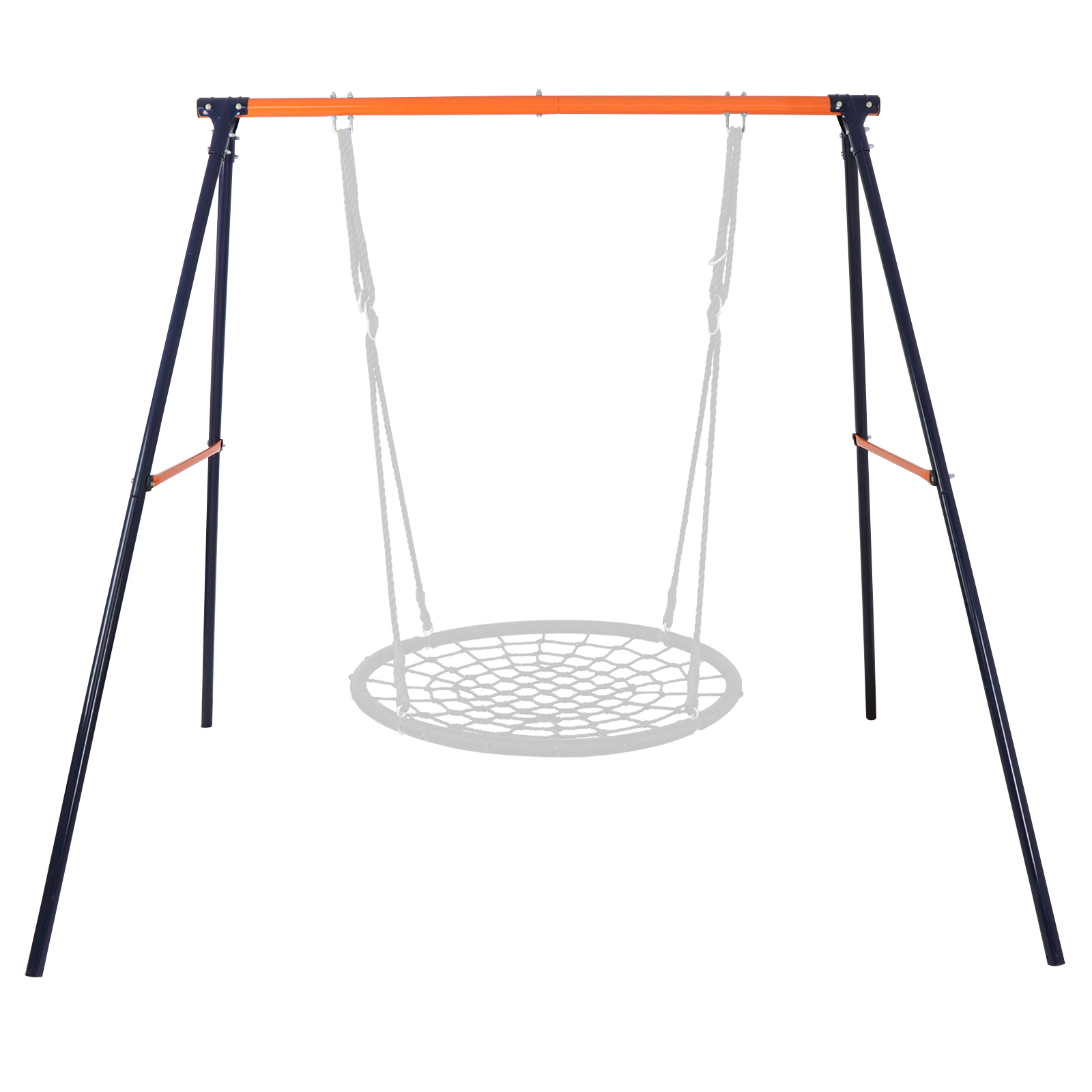Zeny Web Tree Swing Frame Comes Assembled With Durable And Adjustable Ropes