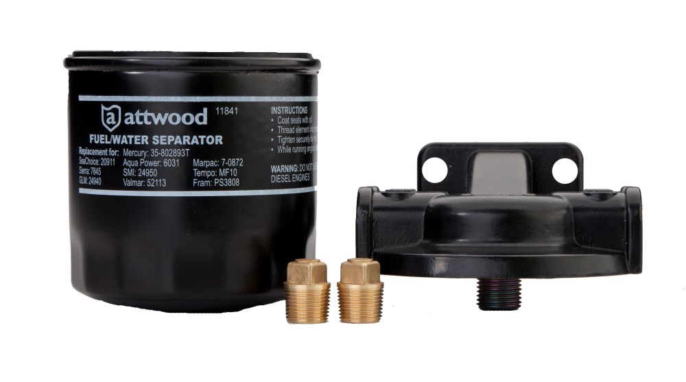 medium resolution of attwood 11841 4 universal 10 micron fuel water separator filter with double gasket walmart com