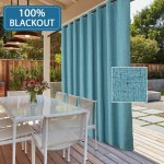 100 Blackout Drapes For Sliding Glass Door Waterproof Faux Linen Door Blinds Anti Rush Grommets Patio Door Curtains Extra Long And Wide For Indoor Ourdoor Teal 100 W X 96 L 8 3 W X 8 L