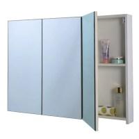 Costway 36'' Wide Wall Mount Mirrored Bathroom Medicine ...