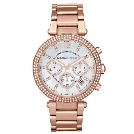 Michael Kors Women's Parker Stainless Steel Rose Gold-Tone Watch, 39mm, MK5491