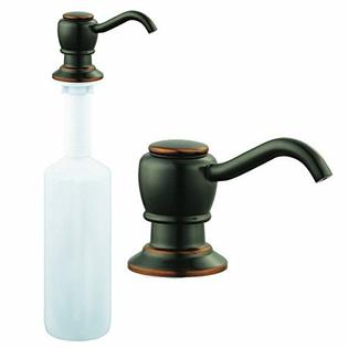oil rubbed bronze kitchen sink inexpensive flooring options for faucet soap pump dispenser walmart com