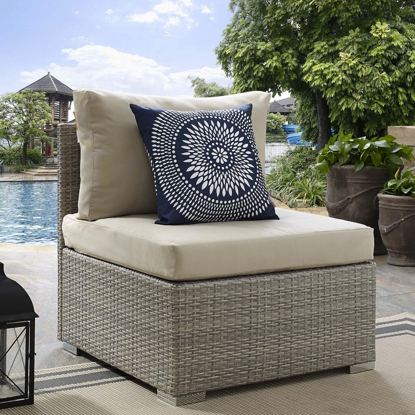 modway repose outdoor patio sunbrella fabric armless chair multiple colors walmart com