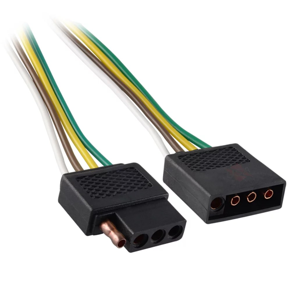 hight resolution of 6ft trailer light wiring harness extension 4 pin flat plug wire6ft trailer light wiring harness extension