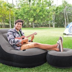 Intex Ultra Lounge Chair And Ottoman Covers Argos Inflatable With Cup Holder Set 68564e Walmart Com