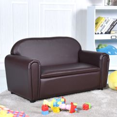 Sofa Box Leather Sectional Gymax Kids Armrest Chair Lounge Couch Wood Construction Qty
