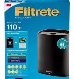 filtrete by 3m room air purifier console 110 sq ft coverage black hepa type allergen filter included [ 2156 x 3000 Pixel ]