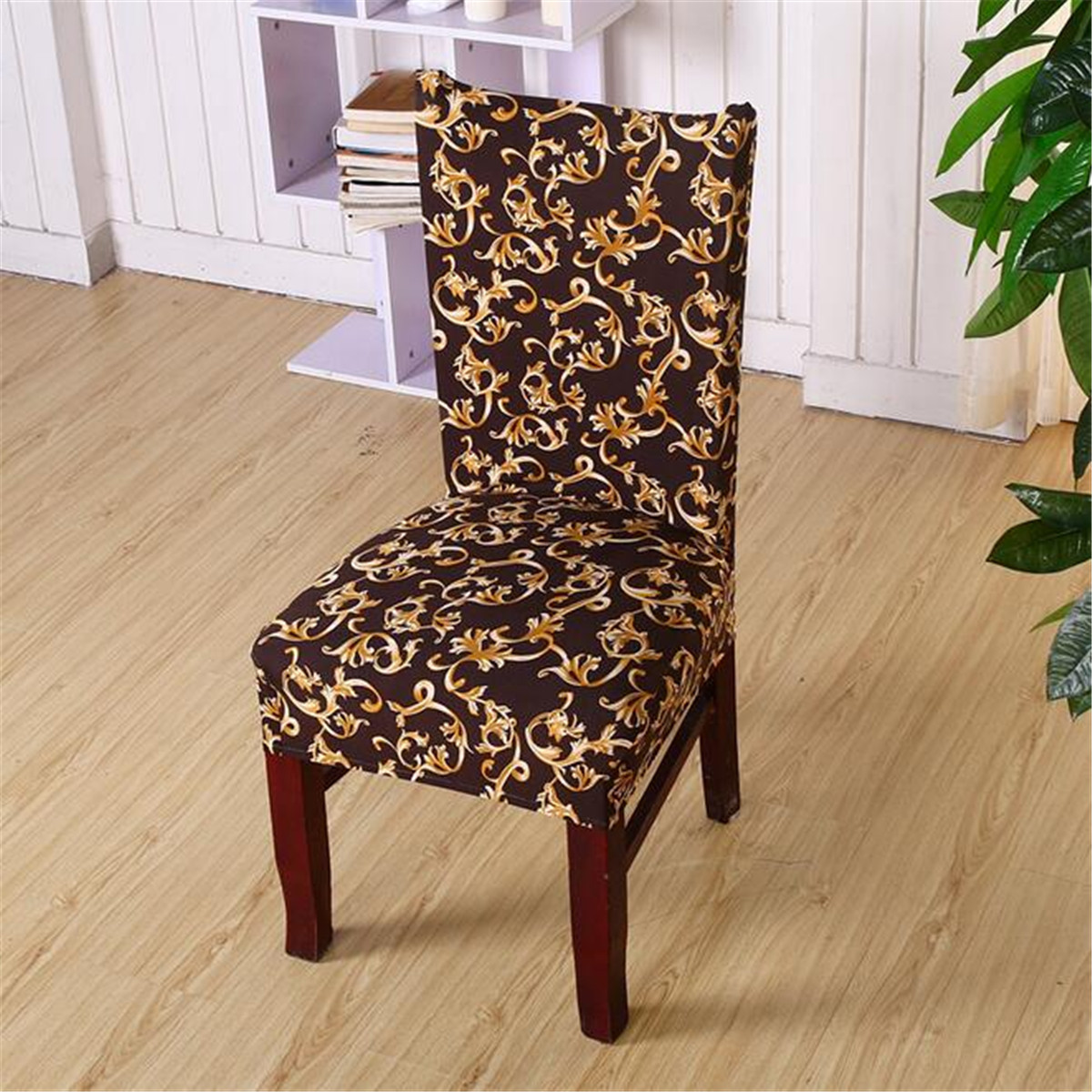 party chair covers walmart patio club with ottoman soft spandex fit stretch short dining room printed pattern banquet seat protector slipcover for hone hotel