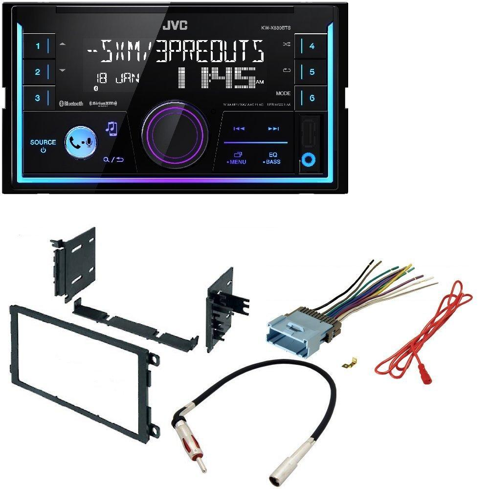 hight resolution of jvc kw r930bts 2 din in dash car stereo cd player w bluetooth usb iphone sirius xm car stereo dash kit w wiring harness for select buick cadillac chevrolet