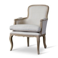 Baxton Studio Napoleon Traditional French Accent Chair ...