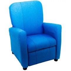 Kids Recliner Chair Black Counter Height Chairs Reclining Denim Walmart Com