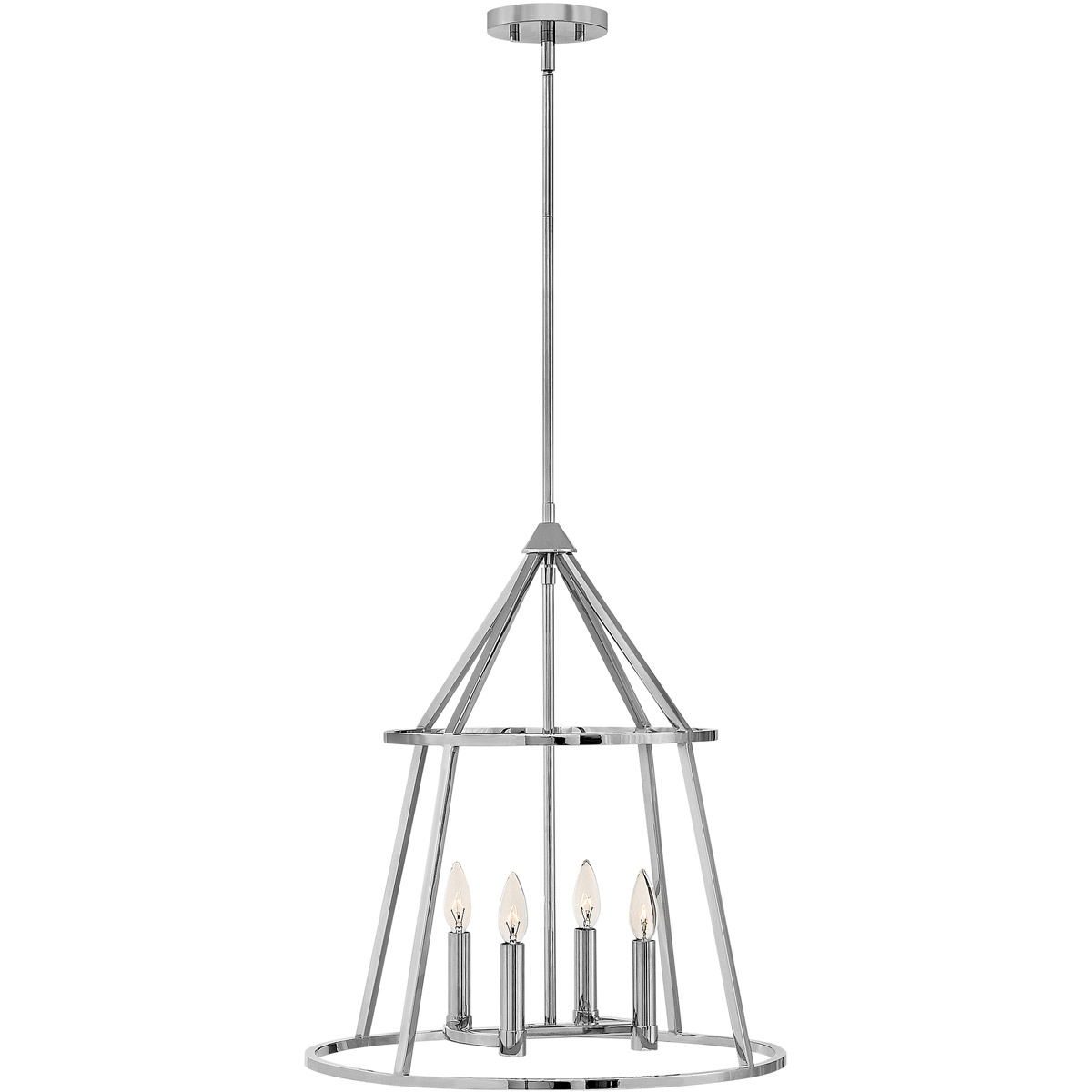 Pendants 4 Light Fixtures With Polished Nickel Finish