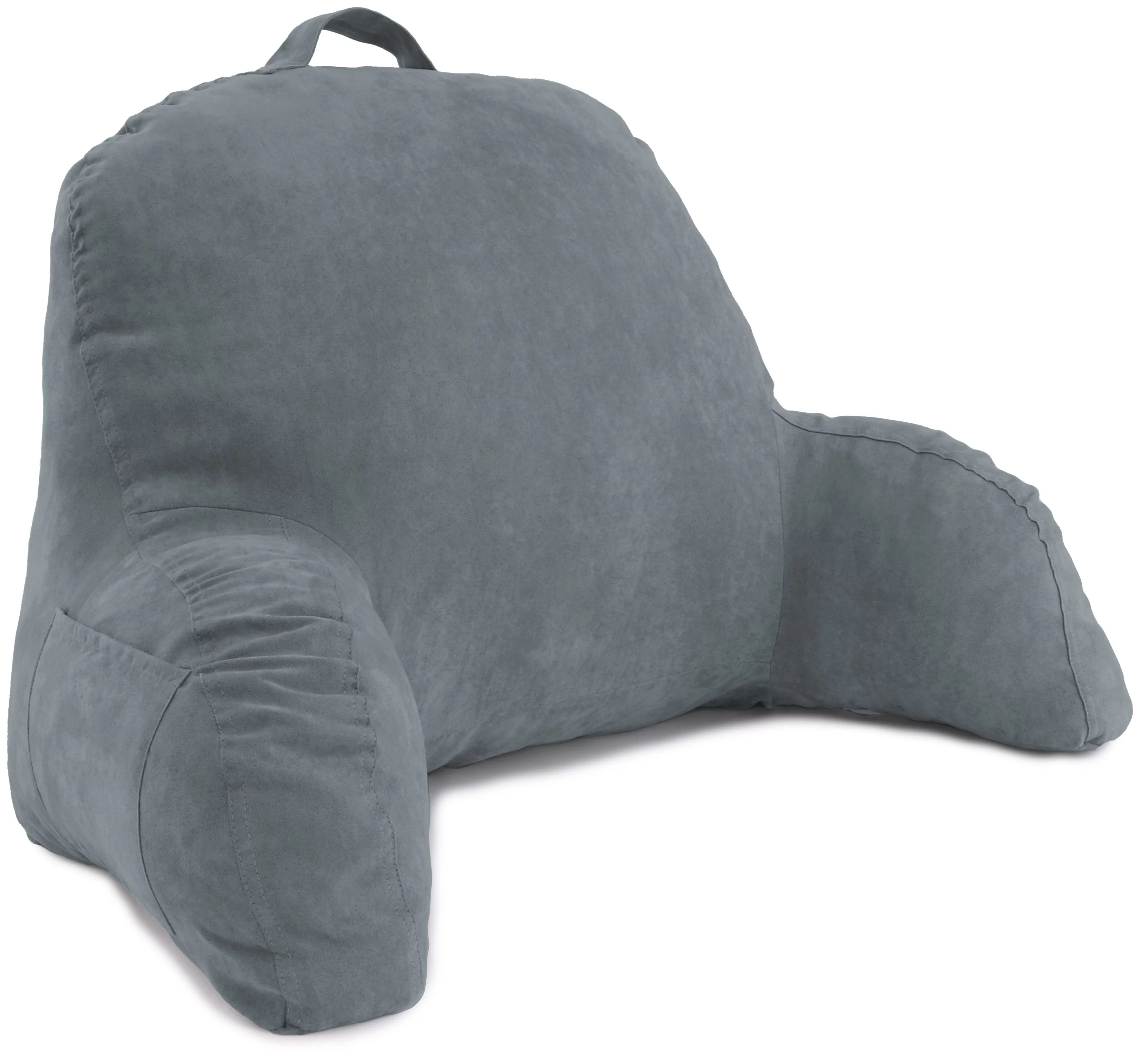 deluxe comfort microsuede bed rest reading and bed rest lounger a sitting support pillow soft but firmly stuffed fiberfill backrest pillow with
