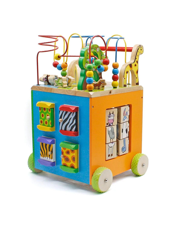 Pidoko Kids 2 In1 Baby Walker Activity Bead Maze Cube