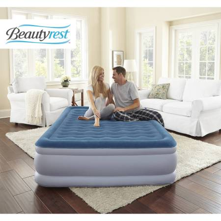 Simmons Beautyrest Extraordinaire Raised Air Bed Mattress With Iflex Support And Built In Pump