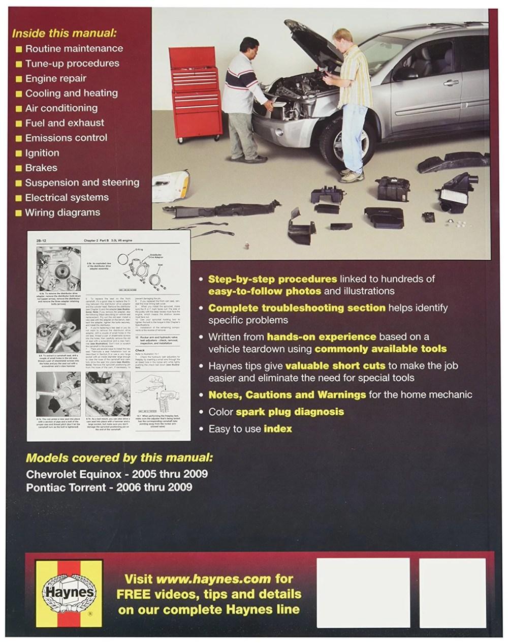 medium resolution of chevrolet equinox pontiac torrent 05 09 38040 by haynes repair manuals walmart com
