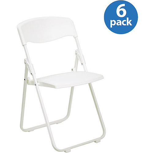 folding chairs walmart rent chair covers edmonton premium white plastic set of 6 com